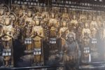Sanjusangen-do with 1001 Senju Kannon statues (the statue of the Thousand-Armed Kannon)