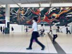 "Taro Okamoto's masterpiece ""Myth of Tomorrow"" at Shibuya Station"